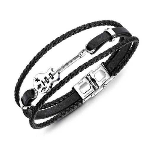 Vintage Multi-Layer Weaving PU Rope Men's Bracelet
