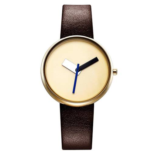 Concise Three-Pointer Design Water-proof PU Leather Watch