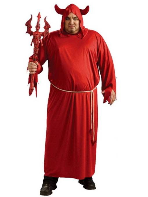 Hell Red Devil Halloween Costume without Prop on Hand