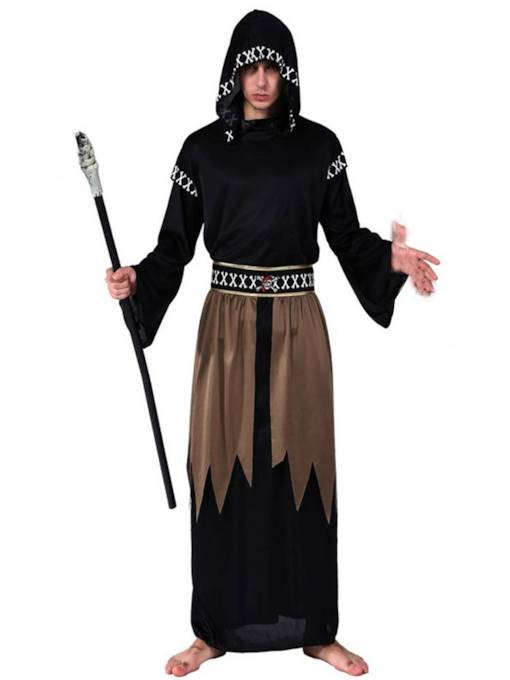 Black Robe Wizard Halloween Costume