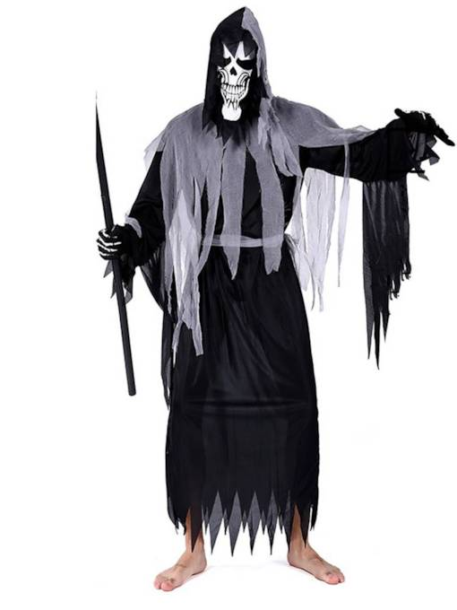 Grim Zombie Halloween Costume without Prop on Hand