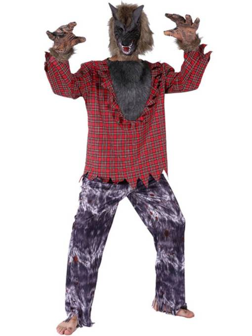 Men's Werewolf Halloween Costume without Headgear