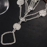 Vintage Coin Design Layered Bohemia Anklets