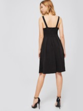 Black Sleeveless A-Line Women's Day Dress