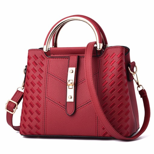 Occident Style Embossing Lock Women Tote Bag