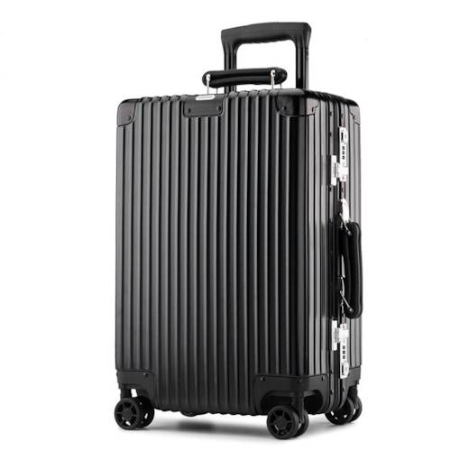 European Style Plain ABS Plastic Rolling Luggage Bag