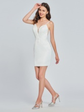 Sheath Spaghetti Straps Appliques Homecoming Dress