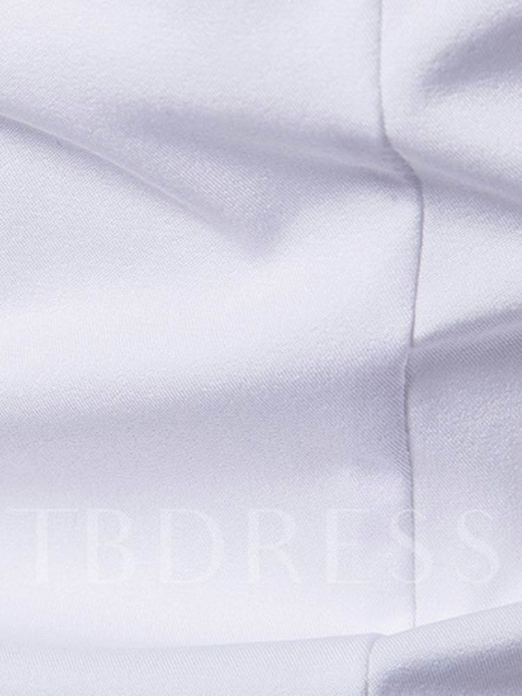 Embroidery Solid Color Men's Leisure Shirt