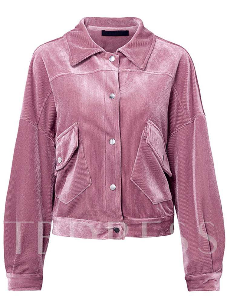 Buy Single-Breasted Lapel Dual Pocket Women's Jacket, Spring,Fall, 13382318 for $28.31 in TBDress store