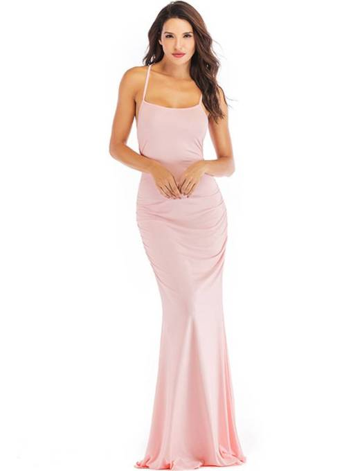 Pink Bandage Women's Maxi Dress