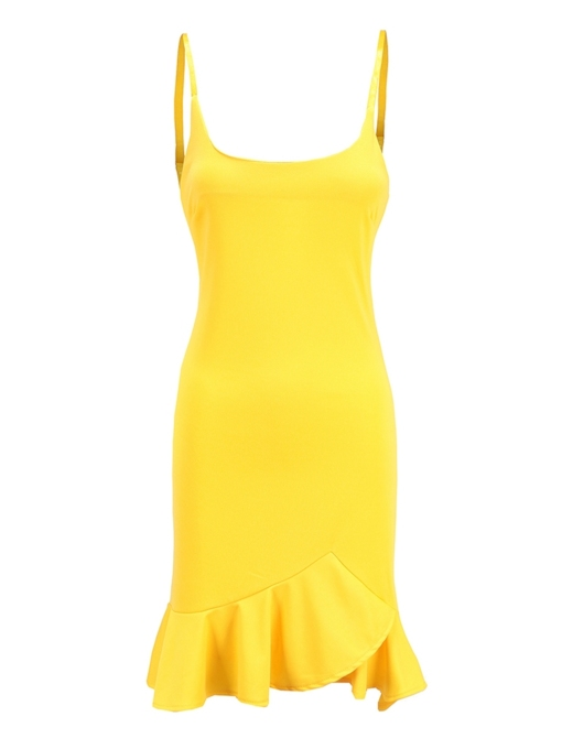 Strappy Falbala Women's Party Dress