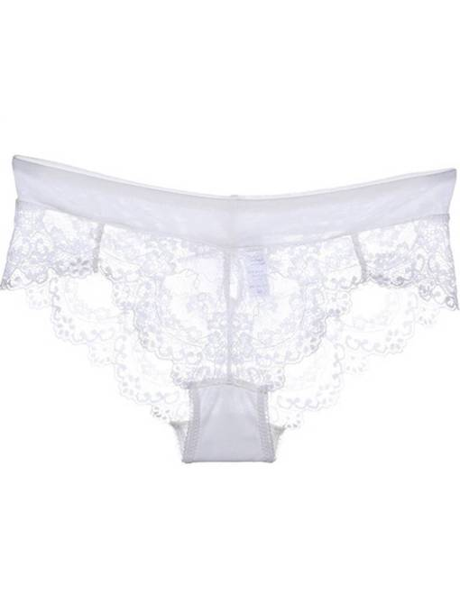 Low-Waist See-Through Sexy Lace Panty for Women