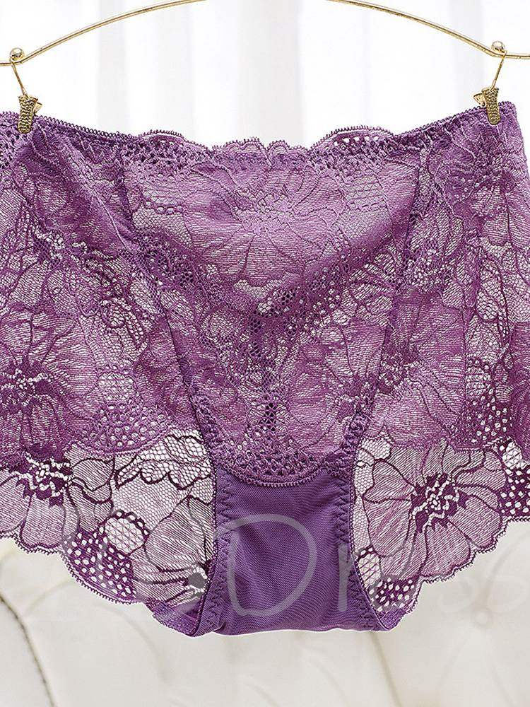 Floral Lace Sexy Plus Size Panty for Women