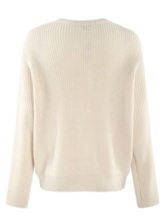 Hollow Out Plus Size Solid Color Women's Sweater