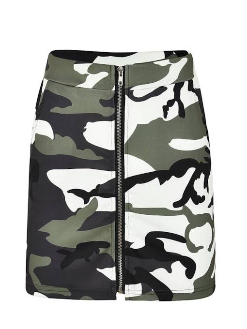 Camo Print Bodycon Women's Mini Skirt