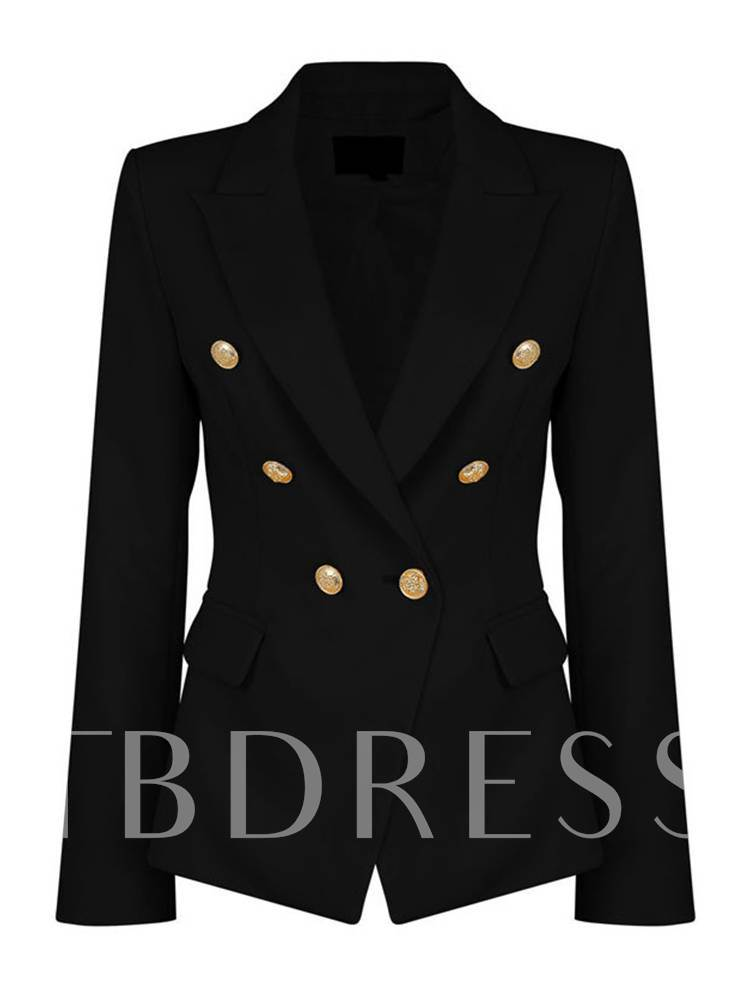 Notched LapelDouble-Breasted Women's Blazer