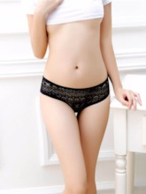 Open Back Lotus Reveals Buttock Lace Sexy Panty