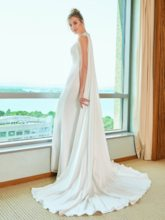 Beading Split-Front Wedding Dress with Watteau Train