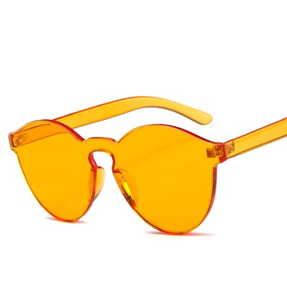 Orange-Colored Sunglasses For Women