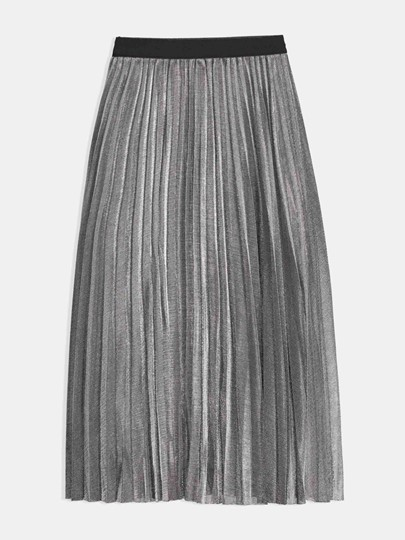 High Waist Pleated Women's Skirt