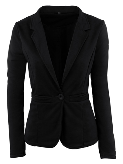 Solid Candy Color One Button Women's Blazer