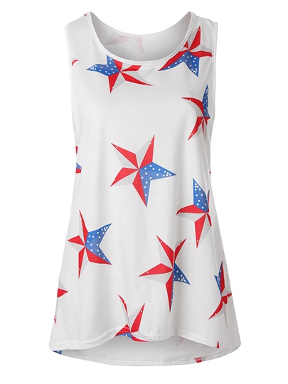 Star Print Independence Day Women's Tank Top
