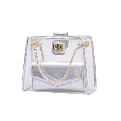 Casual Radiation PVC Plastic Medium Clear Jelly Bag