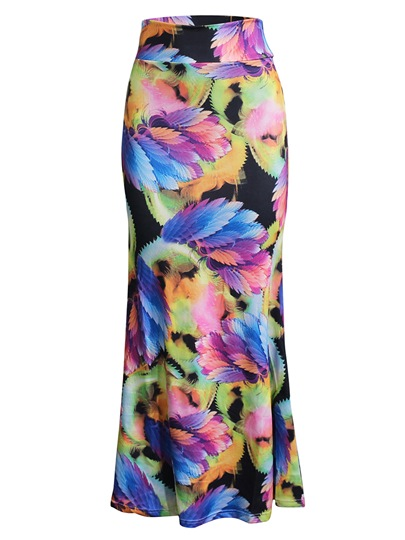 Long Bodycon Print Women's Skirt