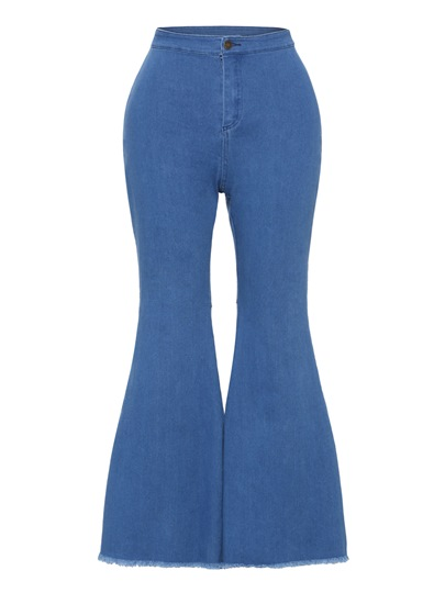 Denim High Waist Bell-Bottoms Women's Jeans
