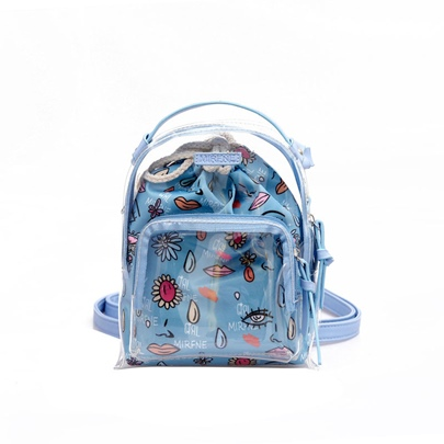 Dazzling PVC Beach Travel Backpack