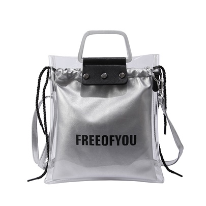 2018 Summer letter Korean Style PVC Jelly Bag