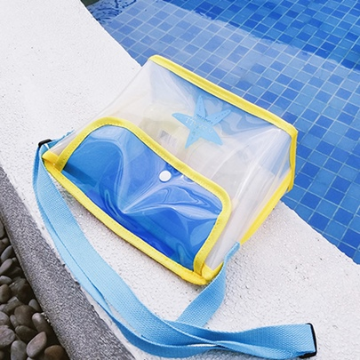 Modern Style Casual Color Block Jelly Beach Bag