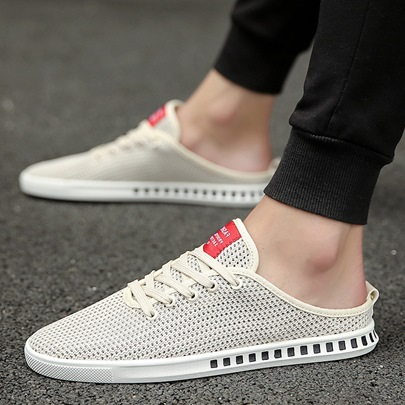 Hollow Mesh Breathable Low-Cut Upper Men's Casual Shoes