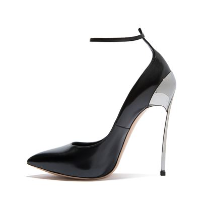 Line-Style Buckle Pointed Toe High Heel Women's Sandals