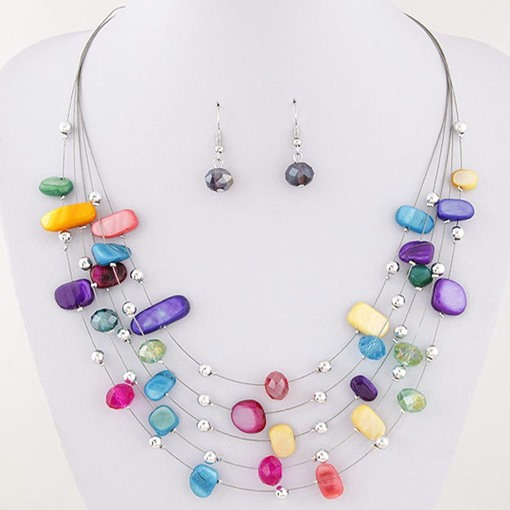 Candy Color Multilayer Colorful Jewelry Sets