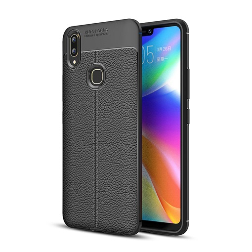 New VivoY85 Litchi Skin Texture Shatter-resistant Tpu Soft Shell