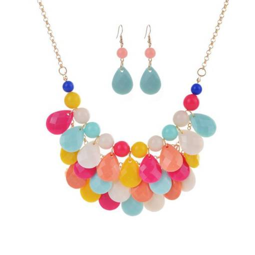 Jelly-Color Sweet Beach Jewelry Sets