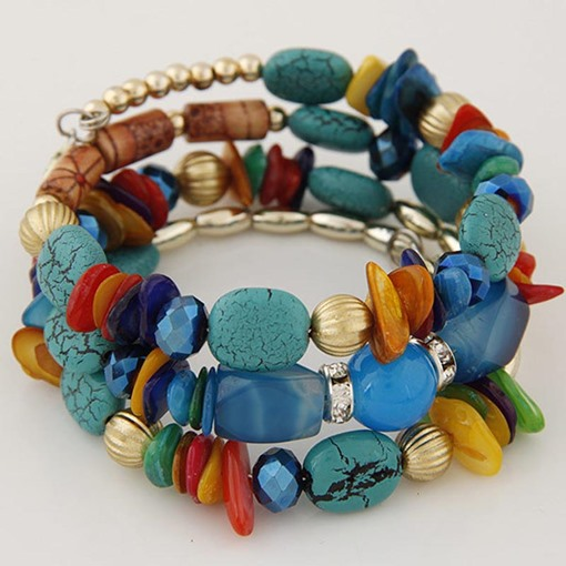 Bohemian Candy Color Handcraft Multilayer Bracelet