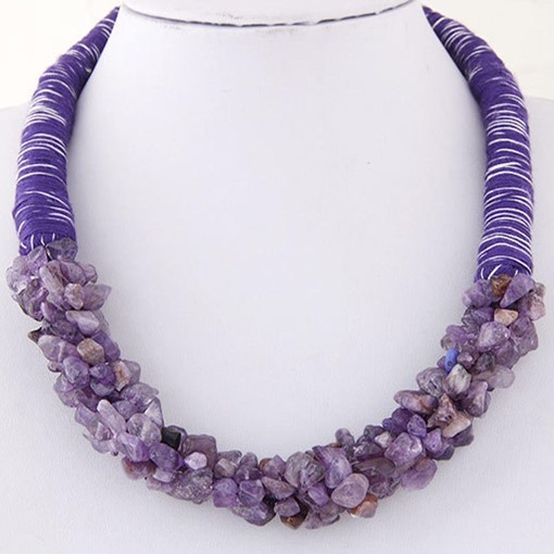 Bohemian Natural Stone Colorful Necklace