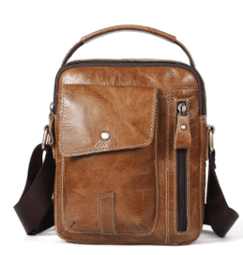 Lock Leather Plain Rectangle Shoulder Bags