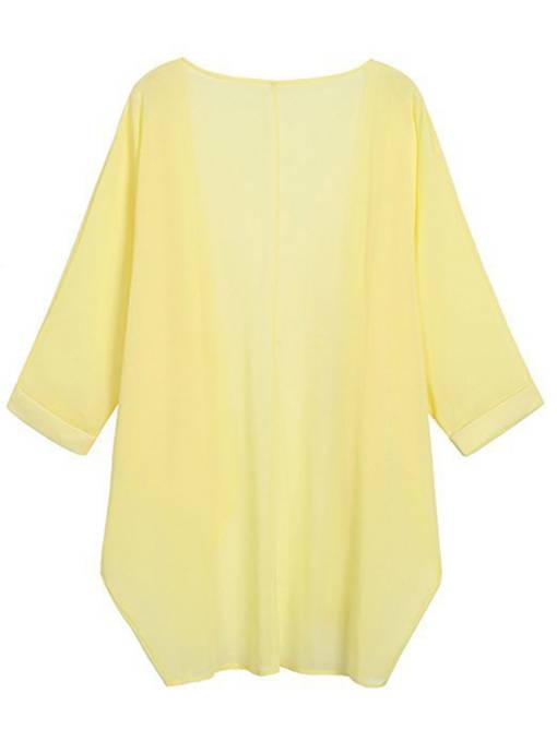 Lightweight Pure Color Open Front Women's Cape