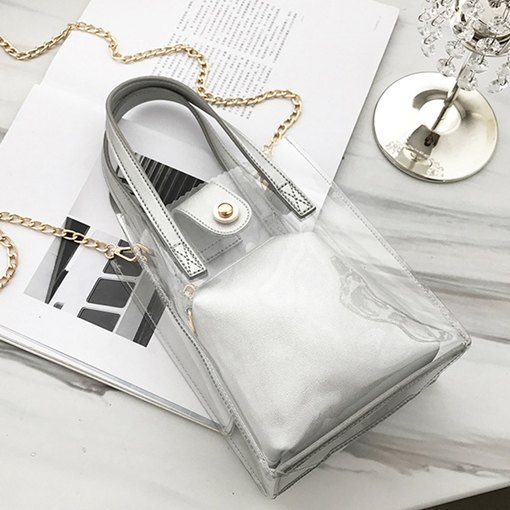 Occident Style PVC Chain Women Tote Bag