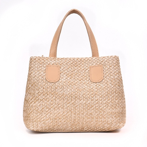 Modern Style Knitted Zipper Women Tote Bag