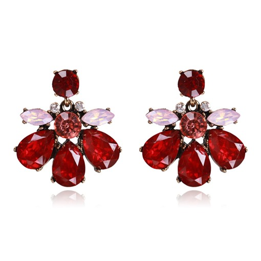 Charming Rhinestone Candy Color Earrings