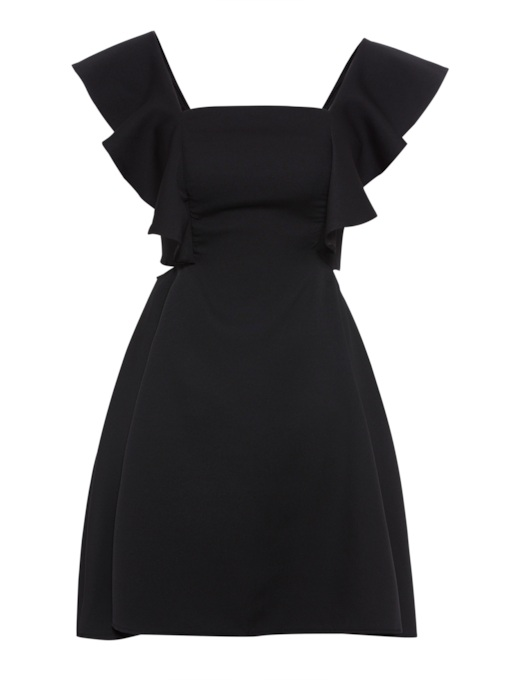 Square Neck Back Zipper Women's Day Dress