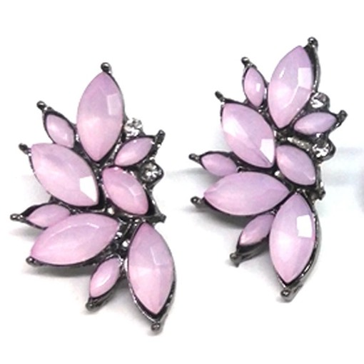 Jelly Color Rhinestone Inlaid Earrings