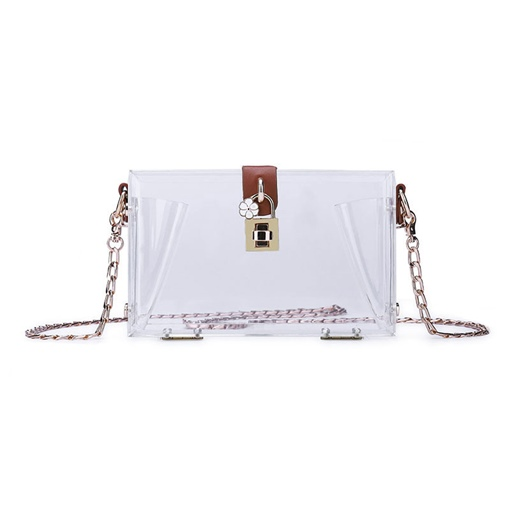 Modern Style Transparent Acrylic Crossbody Bag