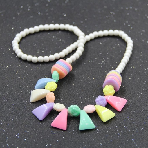 Colorful Jelly Color Rosary Necklace