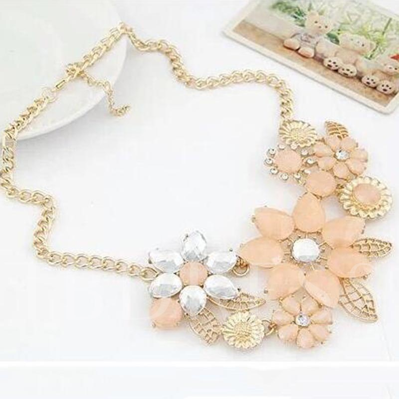 Jelly Color Geometric Floral Necklace