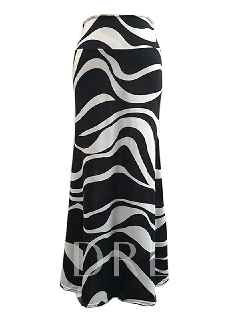 Bodycon Zebra Stripe Women's Skirt